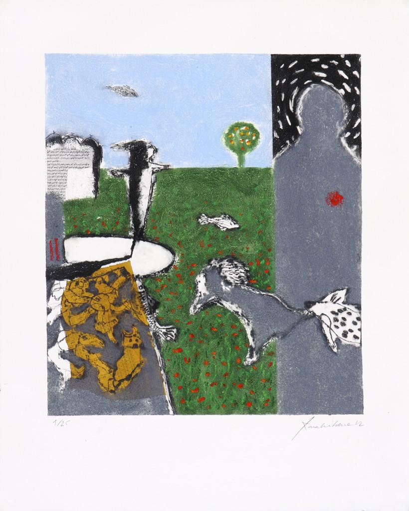 Scarecrow 50x65 Etching carborundum - Ateliers Pasnic Paris 2012 (8)